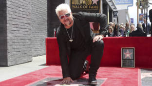 Guy Fieri auf dem Hollywood Walk of Fame