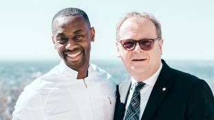 Sternkoch Anthony Sarpong und General Manager Michael Kain