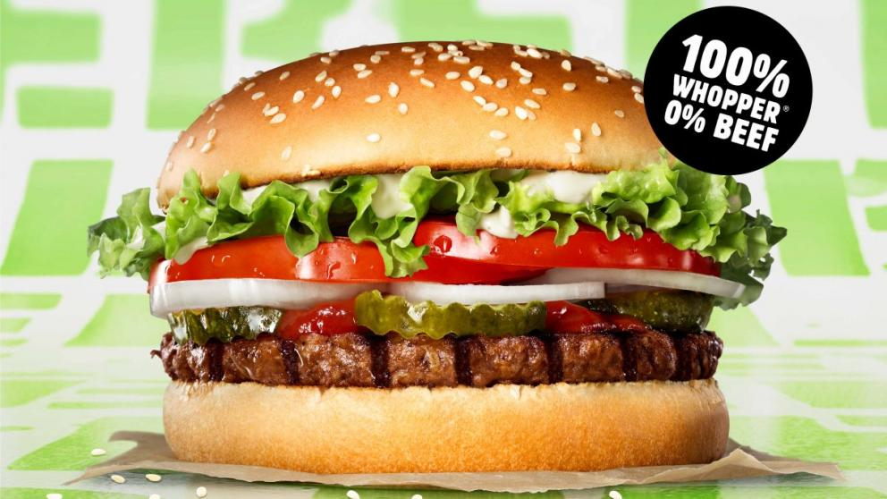 Veganer Whopper von Burger King