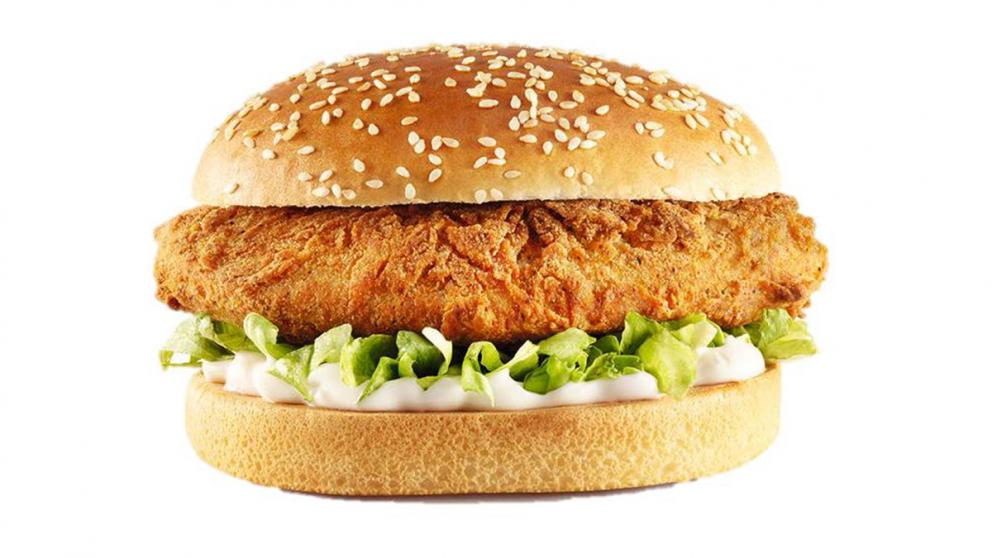 Ein veganer Burger von KFC, Kentucky Fried Chicken