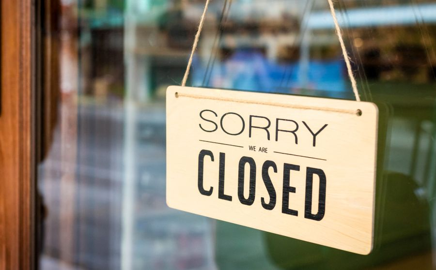 Sorry we are closed-Schild