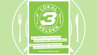 Plakat für de Initiative Lokal-Helden in Bayern