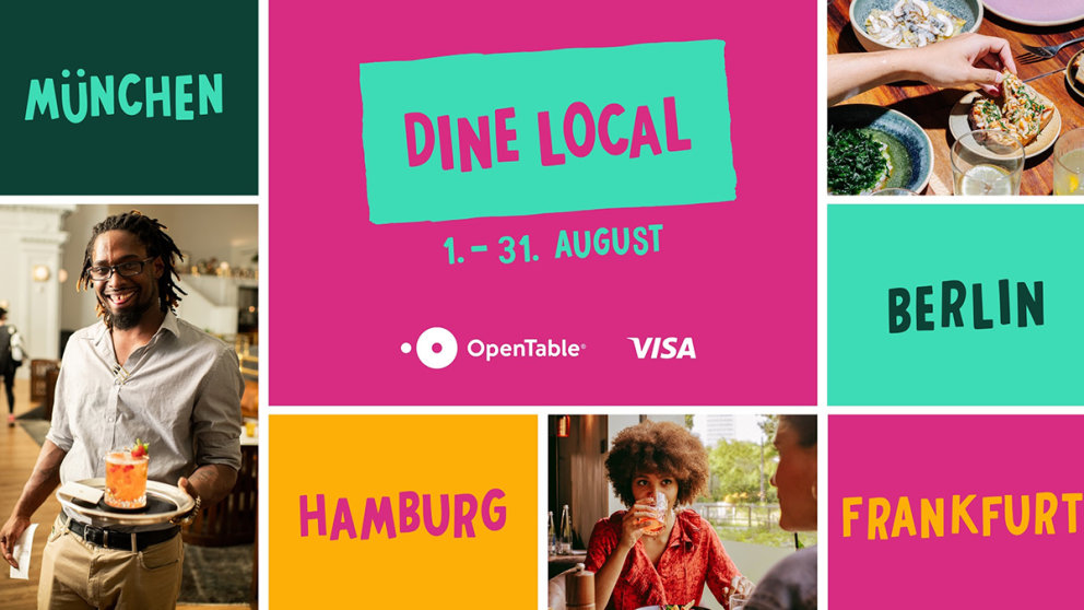 "Plakat für OpenTable-Kampagne ""Dine Local"""
