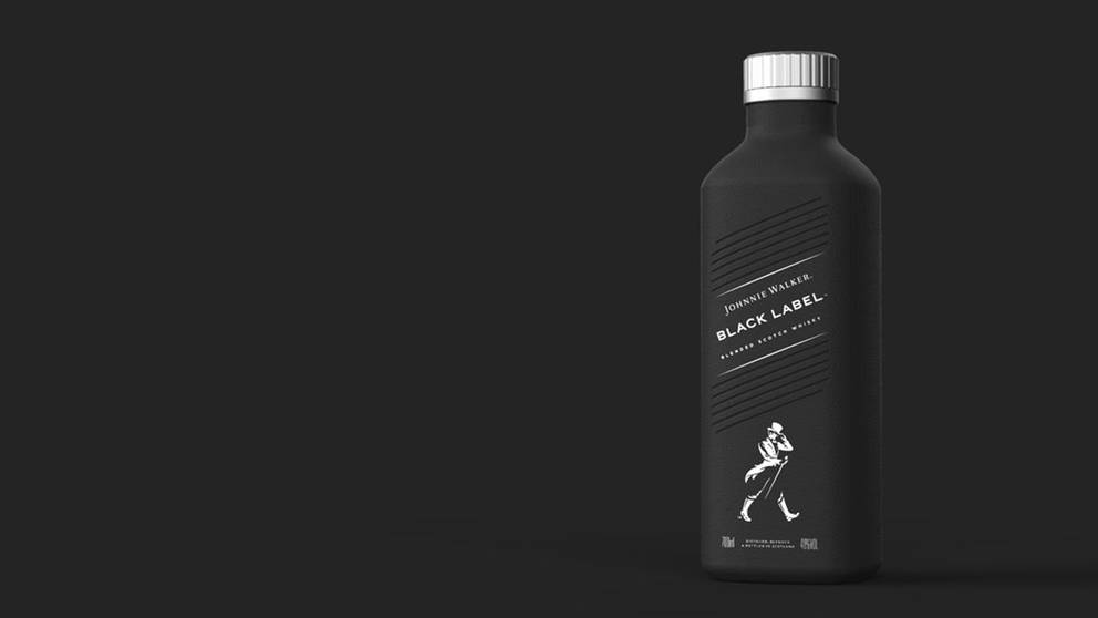 Johnnie Walker in Papierflasche