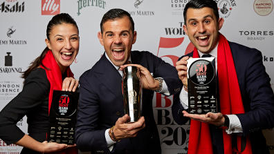 Das Barteam der Connaught Bar in London, UK, Gewinner der The World's 50 Best Bars 2020